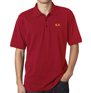 Kappa alpha order lettered polo shirt spirit recognition for Order custom polo shirts