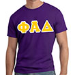 Phi-Alpha-Delta-Lettered-T-Shirt-short-sleeve